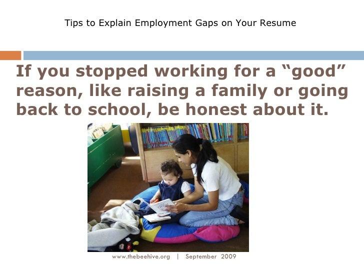 spotty work history resume tips