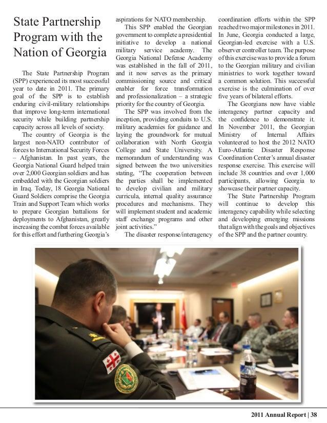State Partnership                          aspirations for NATO membership.                                               ...