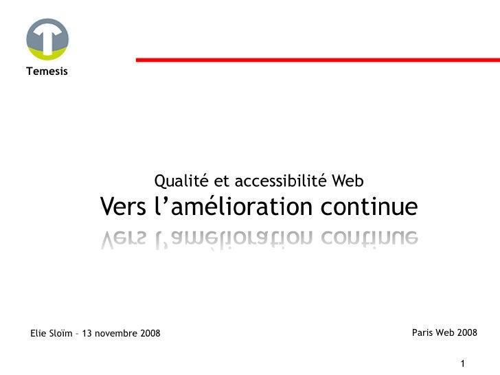 Elie Sloïm – 13 novembre 2008 Paris Web 2008