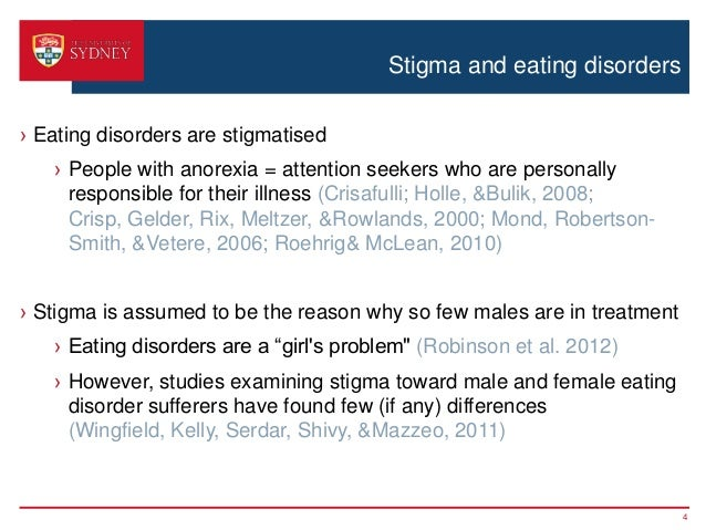 Gender Differences in Anorexics