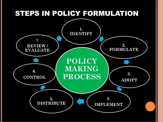 6 steps of the policy making process