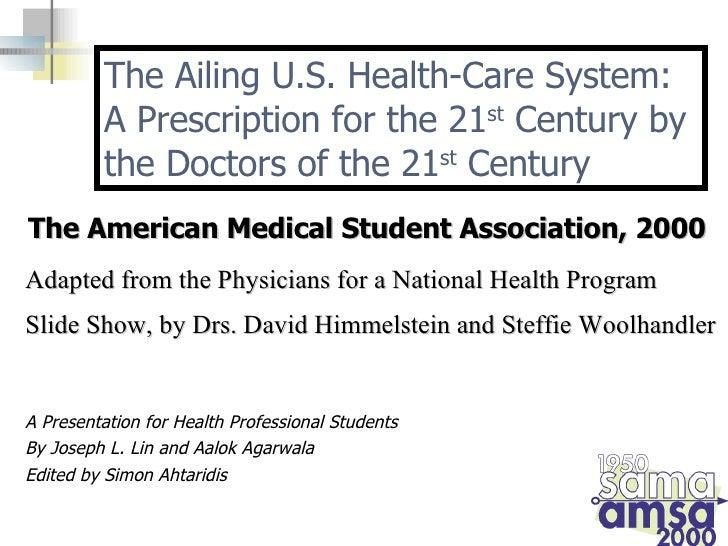 <ul><li>A Presentation for Health Professional Students </li></ul><ul><li>By Joseph L. Lin and Aalok Agarwala </li></ul><u...
