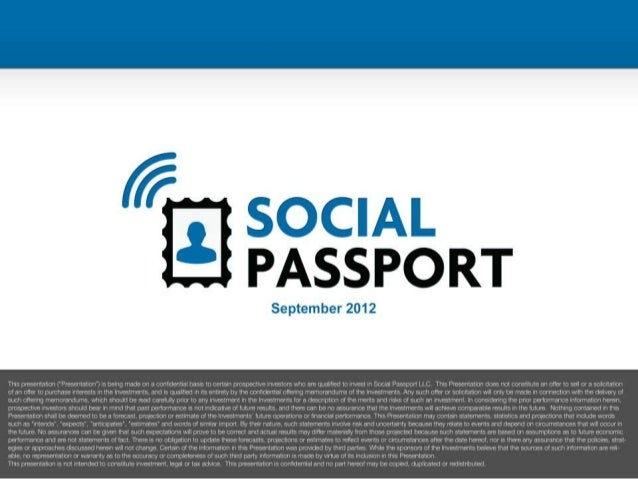 Social Passport presentation