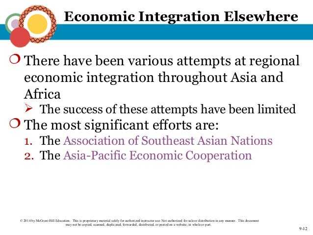regional economic integration Regional economic integration is an agreement among countries in a geographic region to reduce and ultimately remove, tariff and non tariff barriers to the free flow .