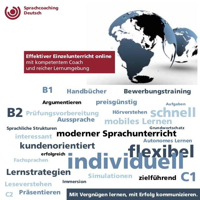 Sprachcoaching  Deutsch  Bewerbungstraining  Hörverstehen  Effektiver Einzelunterricht online  mit kompetentem Coach  und ...