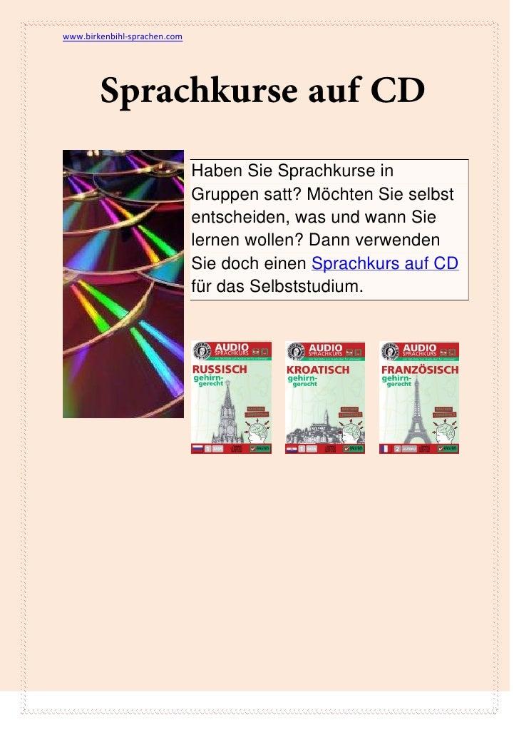www.birkenbihl-sprachen.com                              Haben Sie Sprachkurse in                              Gruppen sat...