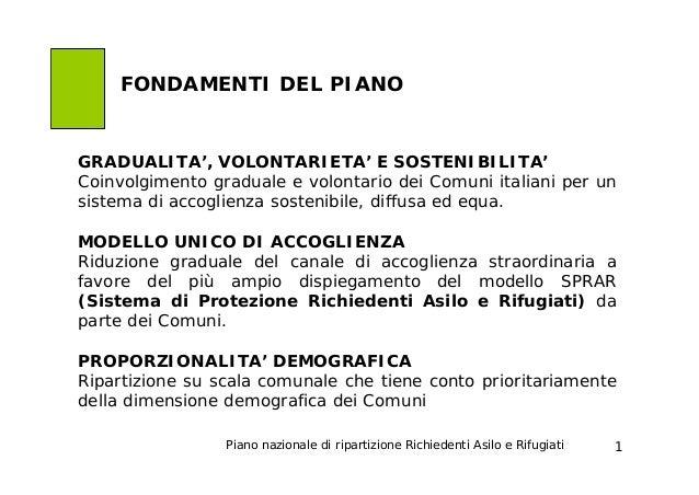 GRADUALITA', VOLONTARIETA' E SOSTENIBILITA' Coinvolgimento graduale e volontario dei Comuni italiani per un sistema di acc...