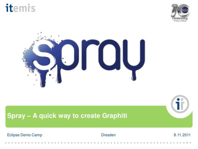 Spray – A quick way to create Graphiti Eclipse Demo Camp  Dresden  ● ● ● ● ● ● ● ● ● ● ● ● ● ● ● ● ● ● ● ● ● ● ● ● ● ● ● ●...