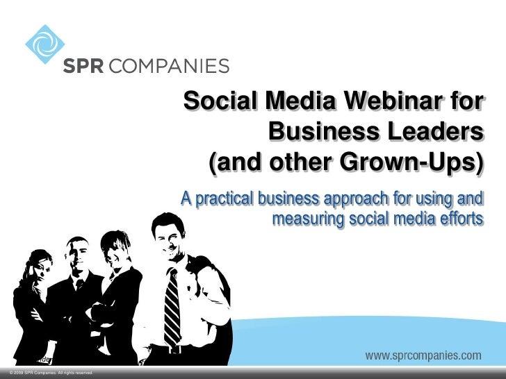 Social Media Webinar for                                                     Business Leaders                             ...