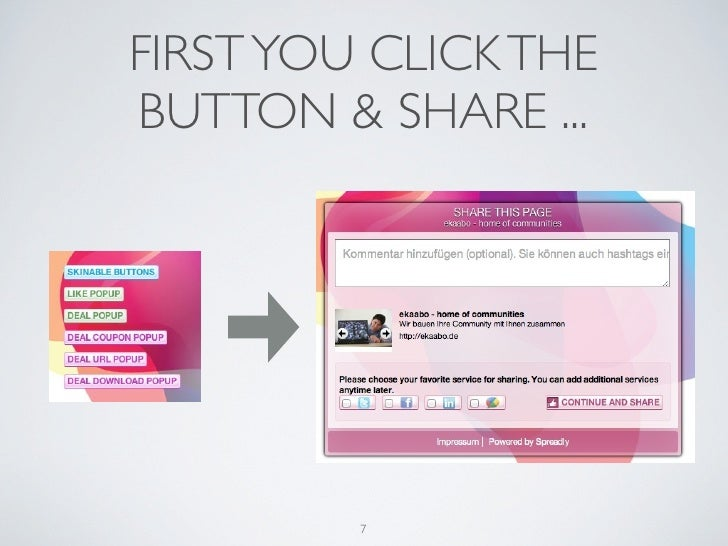 FIRST YOU CLICK THEBUTTON & SHARE ...         7