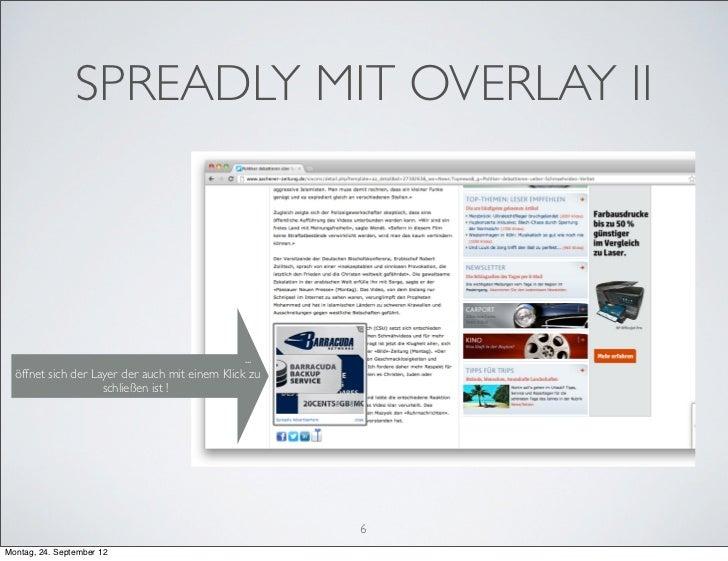 SPREADLY MIT OVERLAY II                                                ...  öffnet sich der Layer der auch mit einem Klick...