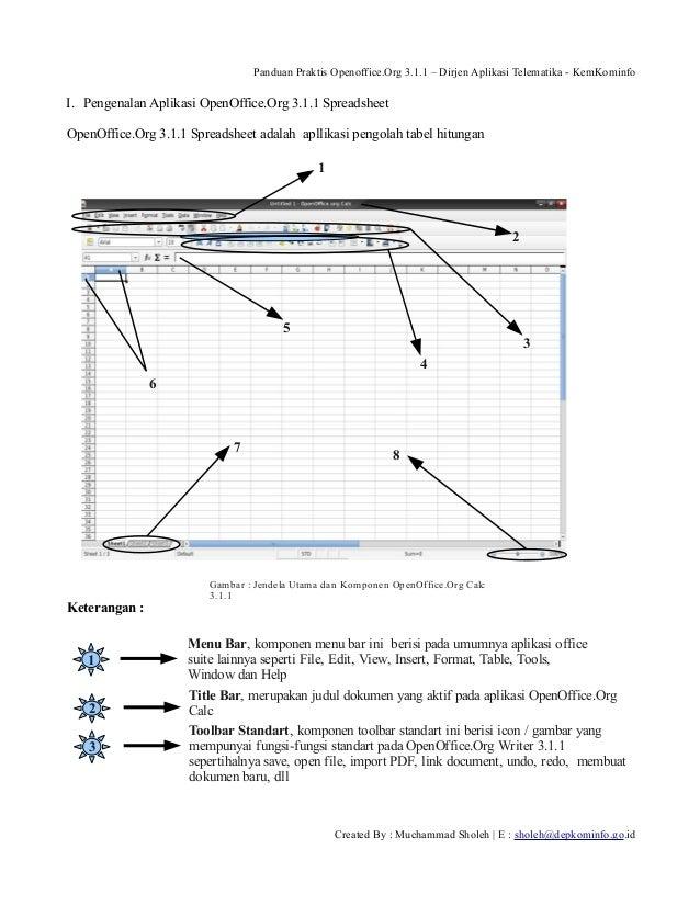Panduan Praktis Openoffice.Org 3.1.1 – Dirjen Aplikasi Telematika - KemKominfo  I. Pengenalan Aplikasi OpenOffice.Org 3.1....