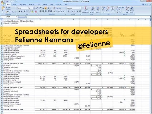 Spreadsheets for developers  Felienne Hermans