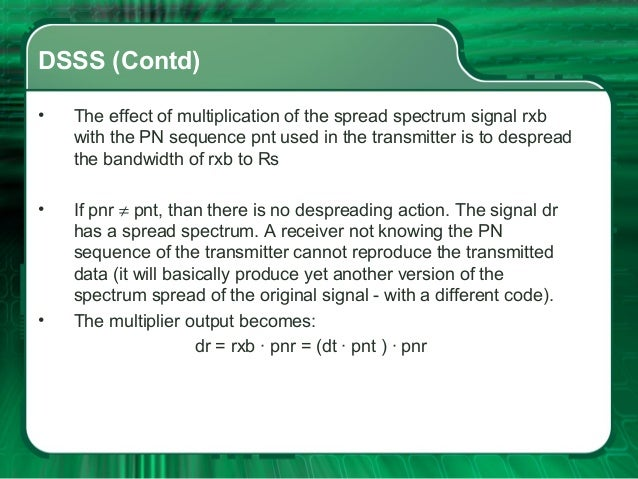 different techniques of spread spectrum Abstract: we compare the wisdom of cdma technique in cellular radio and  in a  spread spectrum system, the signal is transmitted using a bandwidth  efficient  spectral usage, different users can occupy the same spectrum at the same time.