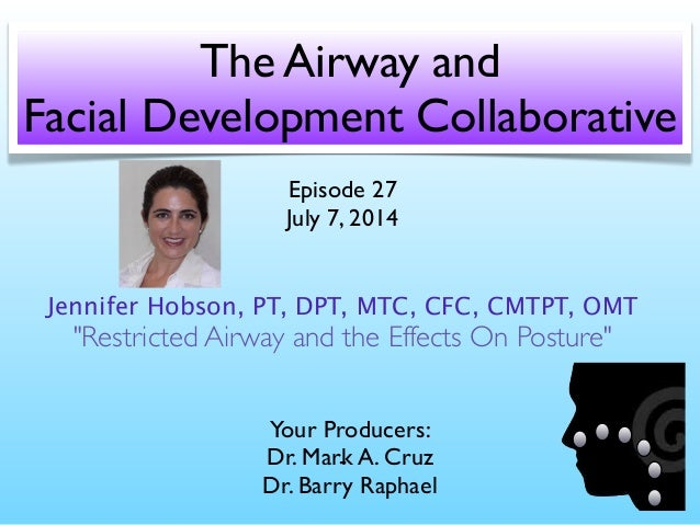 The Airway and  Facial Development Collaborative Your Producers:  Dr. Mark A. Cruz Dr. Barry Raphael Episode 27  July ...