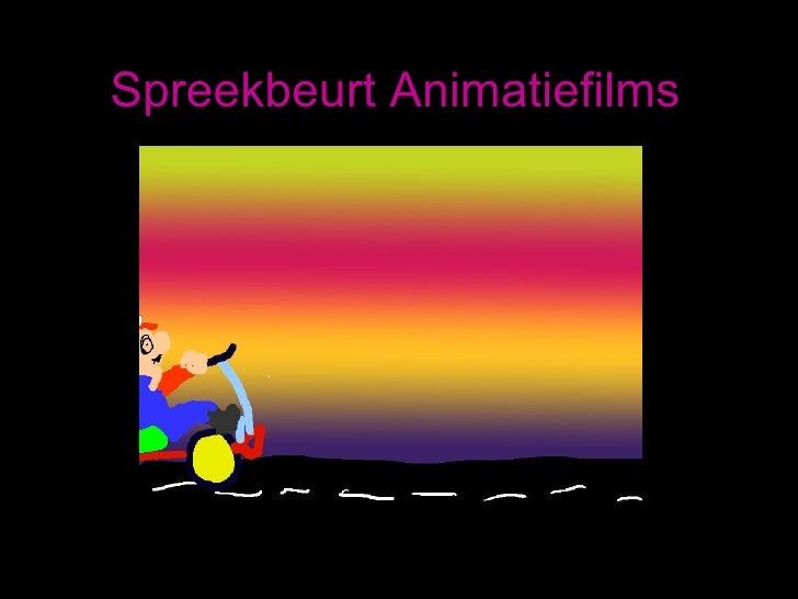 Spreekbeurt Animatiefilms