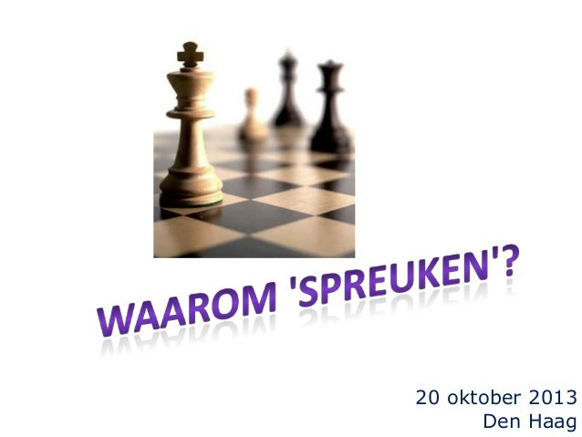20 oktober 2013 Den Haag