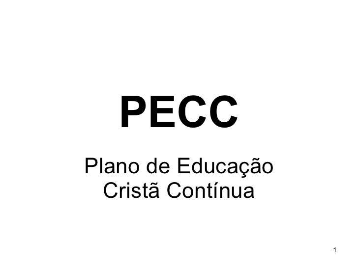 PECC Plano de Educação Cristã Contínua