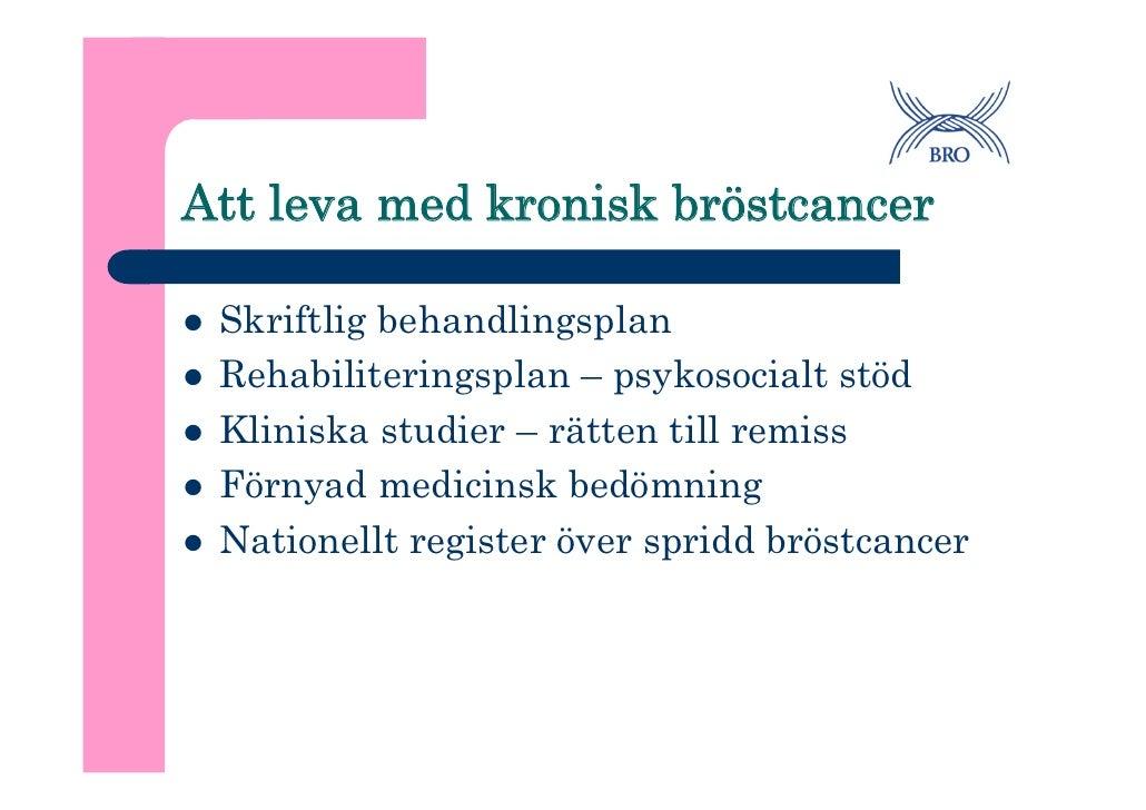 Nationell studie om brostcancer