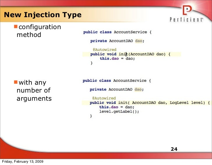 New Injection Type       configuration         method           with any         number of         arguments            ...