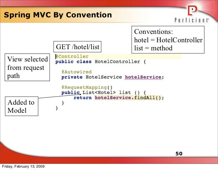 Spring MVC By Convention                                                Conventions:                                      ...