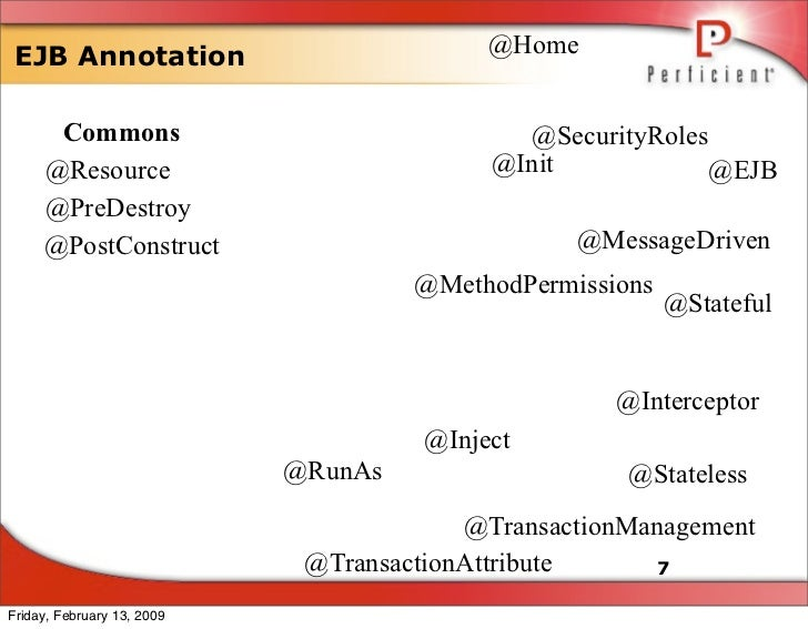 @Home  EJB Annotation        Commons                                @SecurityRoles                                        ...
