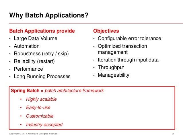 Spring Batch in Code - simple DB to DB batch applicaiton Slide 2
