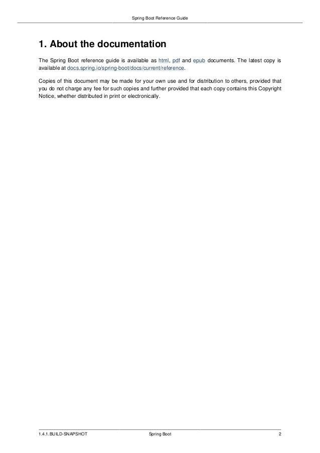 springboot manual reference rh slideshare net spring social reference manual pdf spring social reference manual pdf