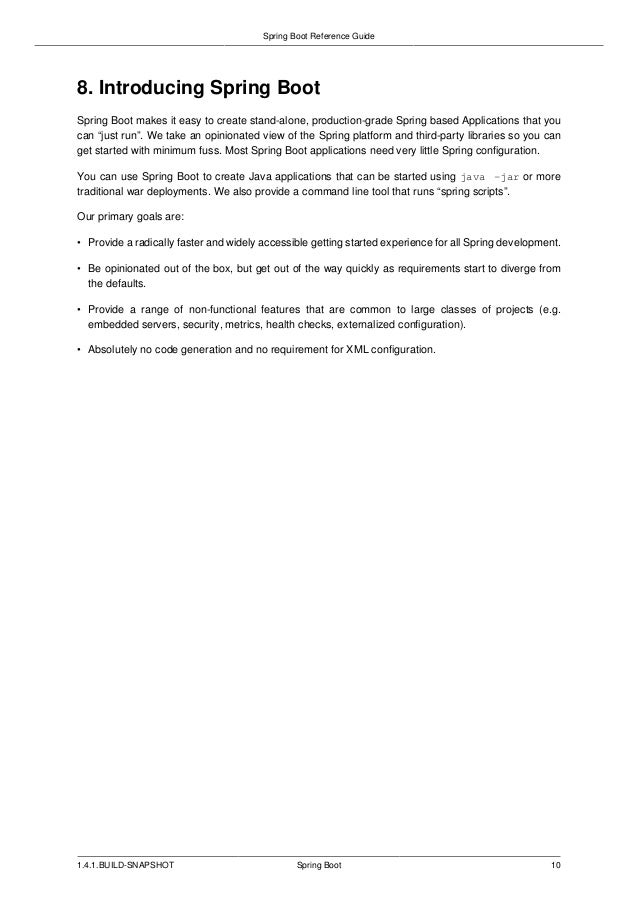 springboot manual reference rh slideshare net spring reference manual 10.6 spring social reference manual pdf