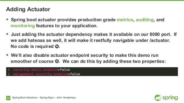 Spring Boot & Actuators