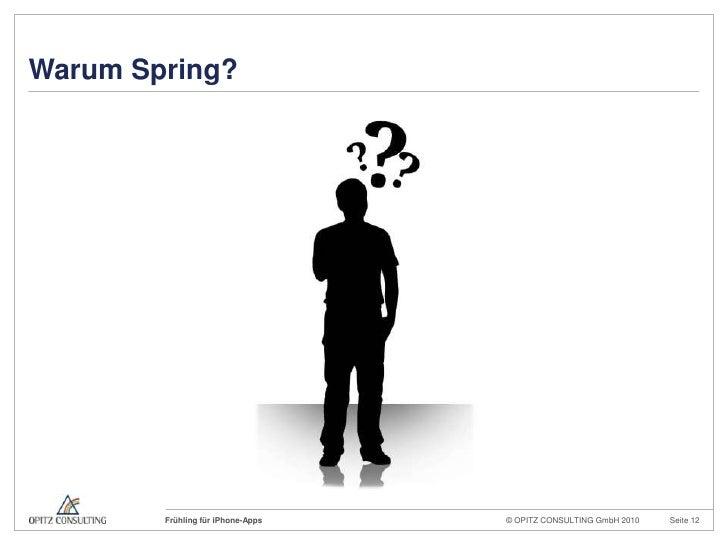 Warum Spring?<br />
