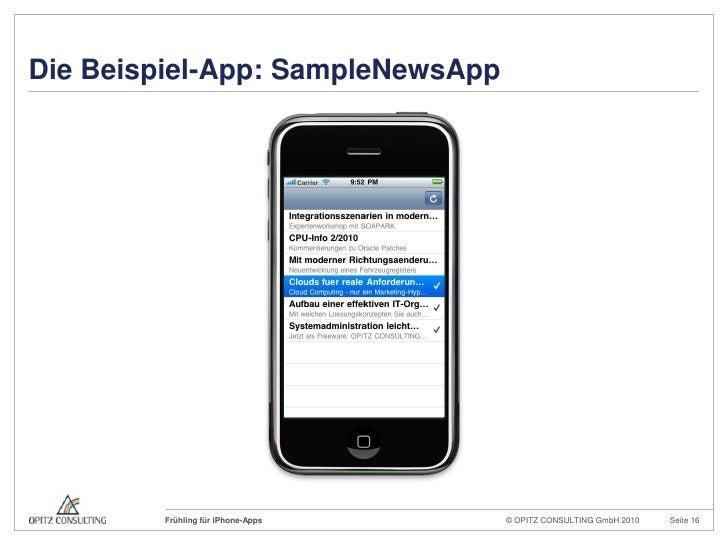 Die Beispiel-App: SampleNewsApp<br />