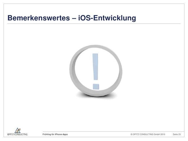 Bemerkenswertes – iOS-Entwicklung<br />