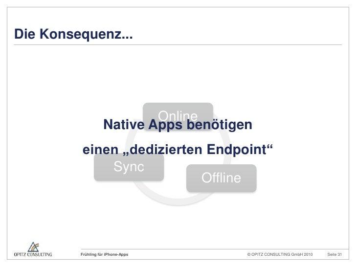 """Die Konsequenz...<br />Native Apps benötigen<br />einen """"dedizierten Endpoint""""<br />"""