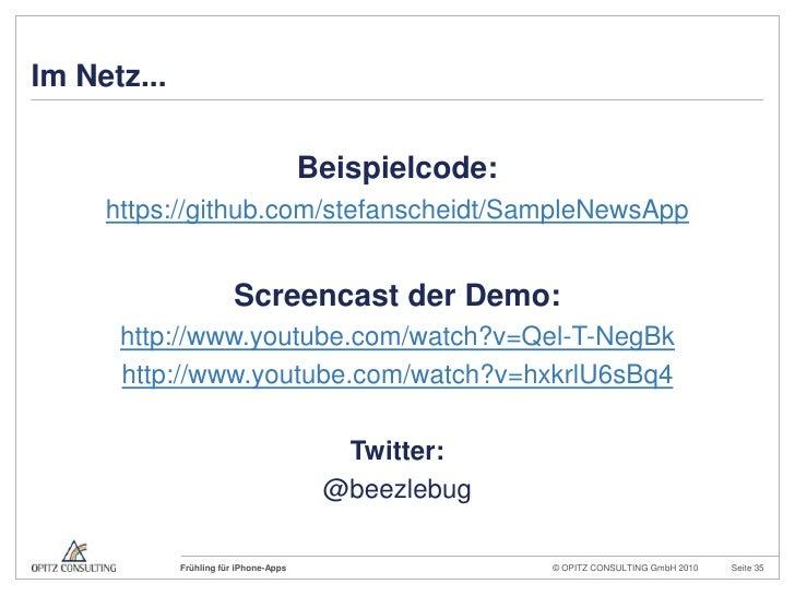 Im Netz...<br />Beispielcode:<br />https://github.com/stefanscheidt/SampleNewsApp<br />Screencast der Demo:<br />http://ww...