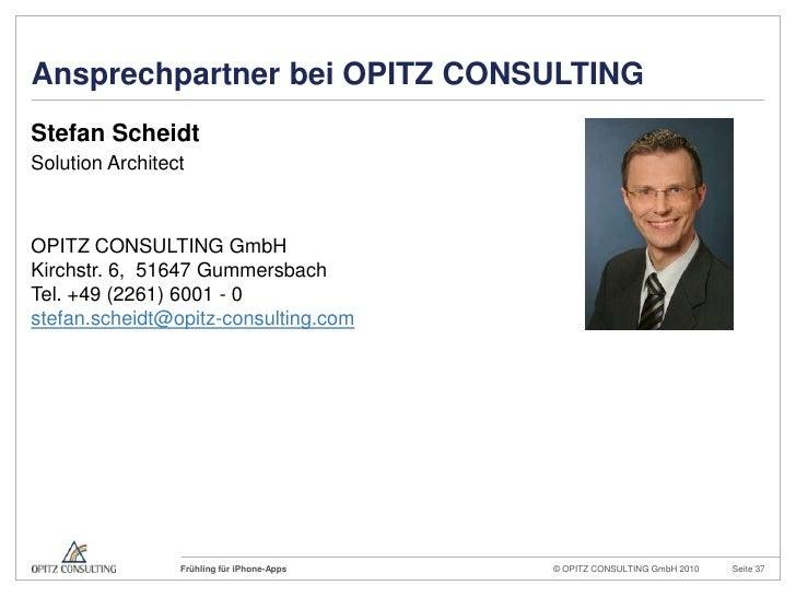 Ansprechpartner bei OPITZ CONSULTING<br />Stefan Scheidt<br />Solution Architect<br />OPITZ CONSULTING GmbHKirchstr. 6, 51...