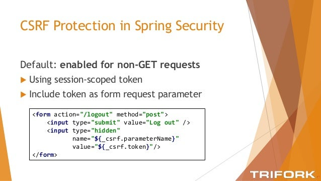 Building Layers of Defense with Spring Security