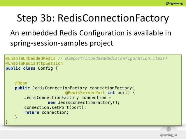 Managing user's data with Spring Session