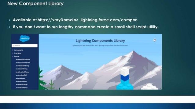 Spring18 Lightning Component Updates