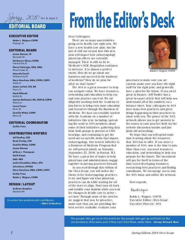 Otoscope Magazine of AOA Spring 2010