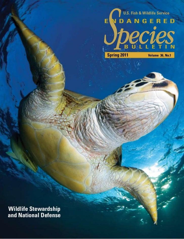 U.S. Fish & Wildlife Service                       Spring 2011            Volume 36, No.1Wildlife Stewardshipand National ...