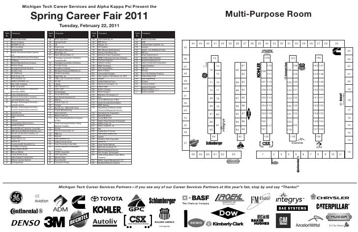 Michigan Tech Career Services and Alpha Kappa Psi Present the                                 Spring Career Fair 2011     ...