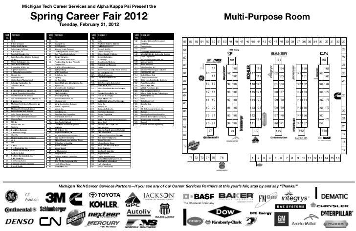 Michigan Tech Career Services and Alpha Kappa Psi Present the                                 Spring Career Fair 2012     ...