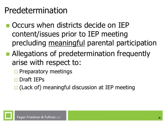 Predetermination In Iep Meeting >> Spring 2014 Special Education In The Modern Age Parent Participatio