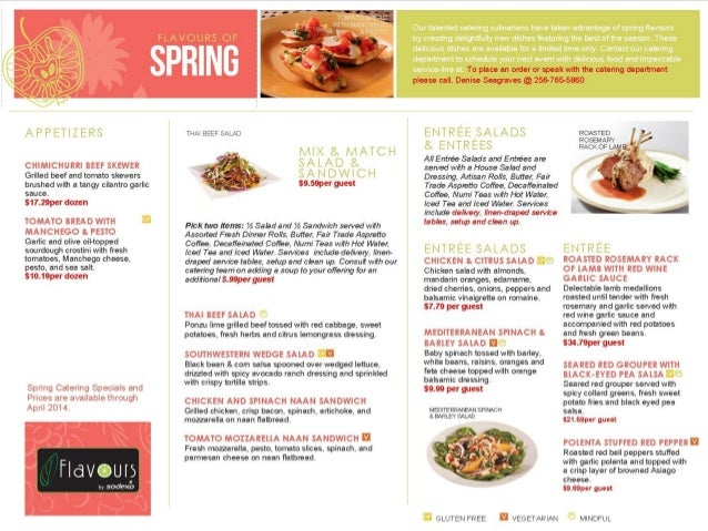 Spring 2014 catering guide