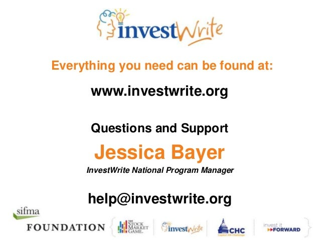investwrite essay Econ illinois, formerly the illinois council on economic education, is a 501 (c) (3) nonprofit organization that is an integral unit within the division of outreach.