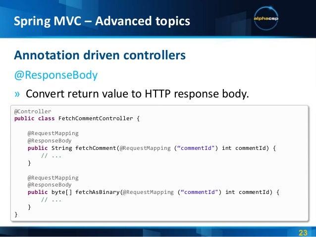 Spring 3 x - Spring MVC - Advanced topics