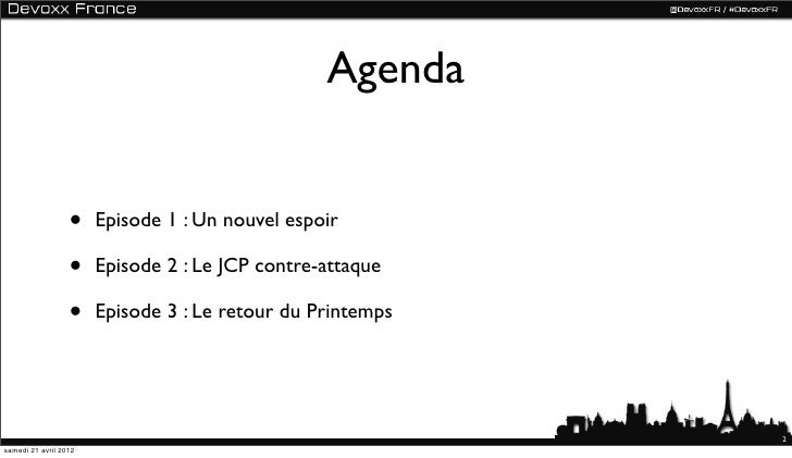 Spring est mort, Vive Spring à Devoxx France Slide 2