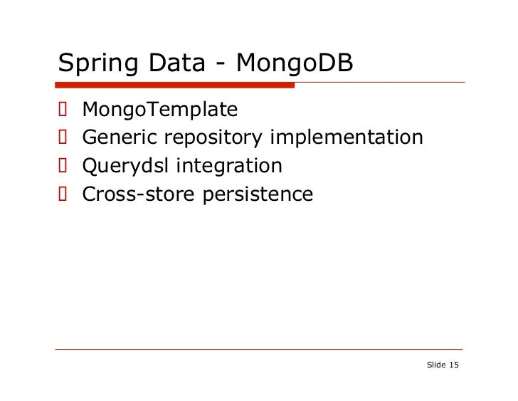 Java Developers with Spring Data
