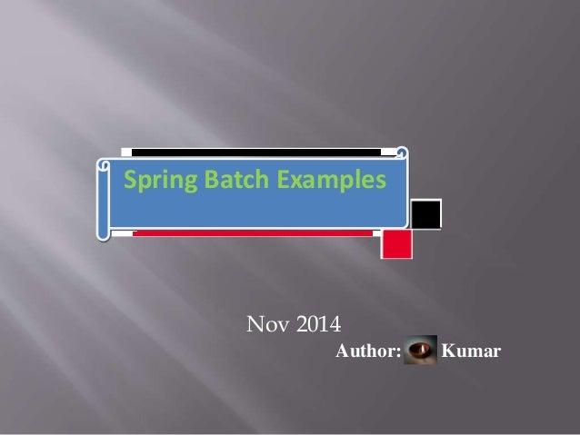 Spring batch example